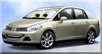 Disney Pixar Cars Nissan Tiida